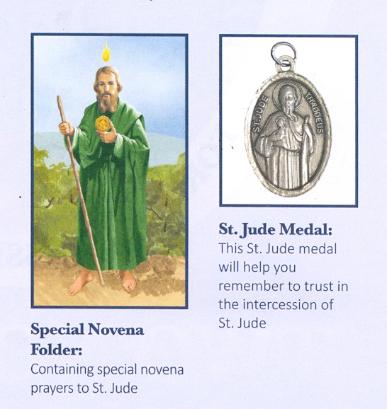 St jude gods special saint for an impossible mission st jude medal to remind you of gods love and one of our novena folders you can use whenever you feel the need god bless you thecheapjerseys